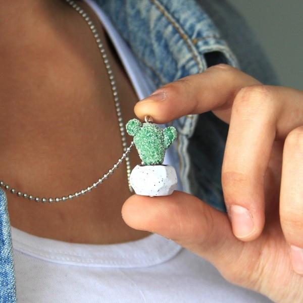 Minyatür Kaktüs Kolye