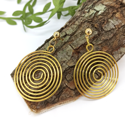 Spiral Gold Halka Küpe