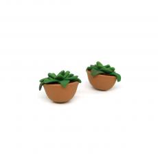 Succulent Kaktüs Küpe