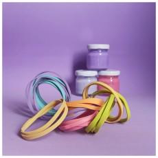 Renkli Çocuk Bileklik / Esnek Yapıda, 6 Adet Pastel Renkli