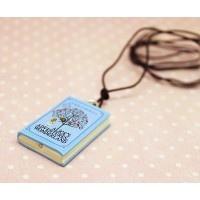 Alice İn Wonderland Kitap Kolye