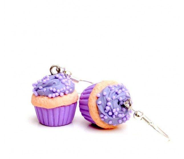 Candy Cupcake Mor Küpe
