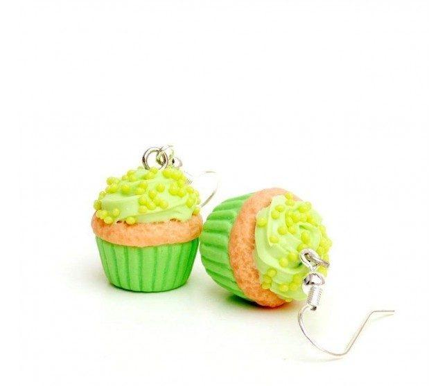 Candy Cupcake Yeşil Küpe