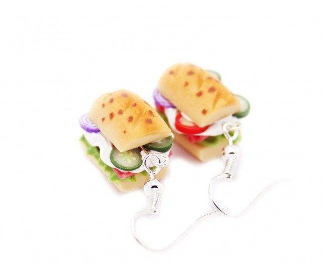 Jambonlu Sandviç Küpe