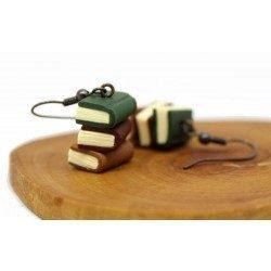Kitap Kurdu Küpe - Yeşil