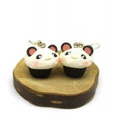 Panda Cupcake Küpe