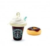 Starbucks & Donut Kahverengi Küpe