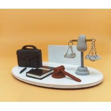 Avukat Temalı Hediyelik Kartvizitlik / Notluk